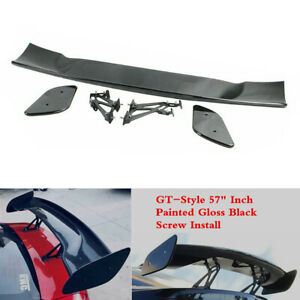 Gt style 57 Inch Rear Spoiler Wing Lip Fit For Dodge Neon 1995 2005 Sedan Coupe