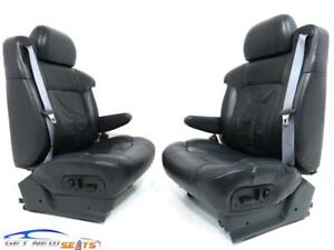 Chevy Silverado Gmc Sierra Charcoal Leather Seats Front Seats 1999 2002