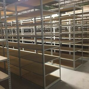 300 Industrial Shelving Rack With Wooden Shelves 8ft