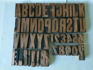 Copper Antique Printing Blocks On Wood A Z 0 9 9 Punctuation Pieces