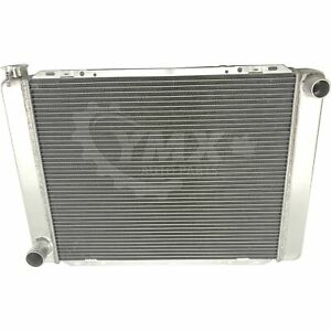 Universal Fit 27 1 2 Inch Racing Radiator Ford Mopar Style 2 Row Single Pass