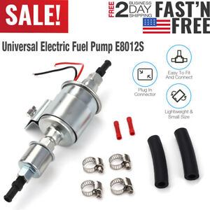 Universal 12v Electric Fuel Pump Inline Diesel Gas 5 9 Psi Low Pressure E8012s