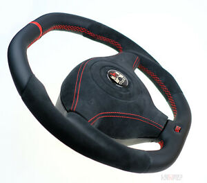 Vw Custom Steering Wheel Flat Bottom Thick Alcantara Golf Mk4 B5 R32 Gti Beetle