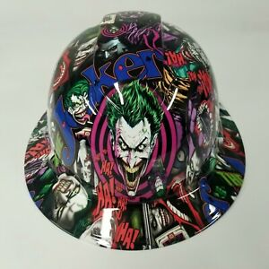 New Full Brim Hard Hat Custom Hydro Dipped In The Joker Haha Full Color Sick New