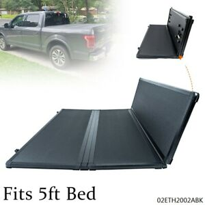 5ft Short Bed Tri Fold Hard Tonneau Cover Fit For 16 21 Toyota Tacoma Pickup