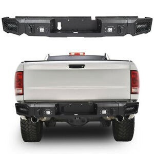 Complete Rear Step Bumper For 13 18 Ram 1500 Pickup Truck With Bright Led Lights