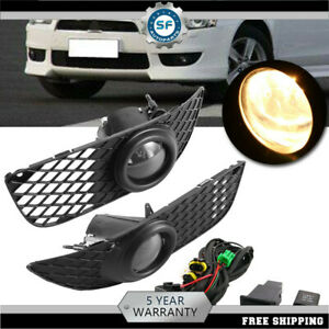 Fog Lights Driving Lamp Kit W Switch Wiring For 07 15 Mitsubishi Lancer