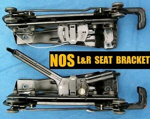Nos L R Rear Seat Metal Rail Bracket Oem Chrysler Dodge Plymouth Minivan 3rd Row