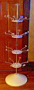 Retail Rotating Floor Display Stand Nib Food Court And Retail Fixture For Snack