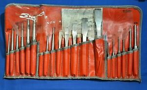 Snap On 19pc Punch And Chisel Set Ppc 200 Ak Barely Used In Pouch