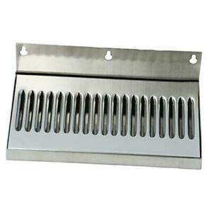 10inch Draft Beer Wall Mount Drip Tray Stainless Steel No Drain