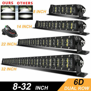 8 14 22 25 32 6d Led Light Bar Driving Offroad Driving Lamp 4wd Truck Suv