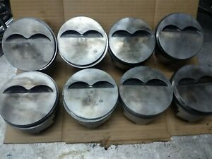 Chevy Small Block 400 Ci Trw Forged Flat Top Pistons 7066p 030 Over