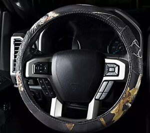 Realtree Camouflage Grip Steering Wheel Cover Ap Black Auto Truck Car New