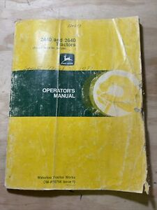 John Deere 2440 And 2640 Tractors Serial Numbers 341 000 And Up