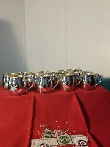 Vintage F B Rogers Silver Plate Punch Cups