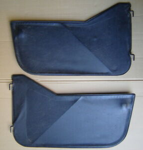 Pair Jeep Wrangler Yj Cj Lower Soft Half Doors Black Fabric Driver Passenger