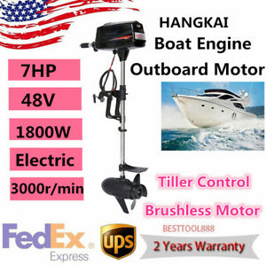 7hp 48v Electric Outboard Motor Fishing Boat Yacht Engine Tiller Control Hangkai