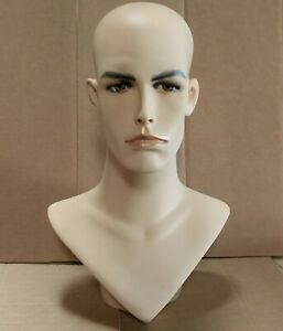 Less Than Perfect 175c Male Mannequin Head Form With Realistic Painted Features