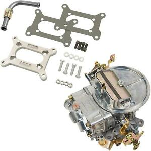 Holley 0 4412s 500 Cfm 2 Barrel Carburetor W Fitting Adapter Kit