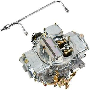 Holley 0 80508s 750cfm 4160 Carburetor W chrome Fuel Feed Line