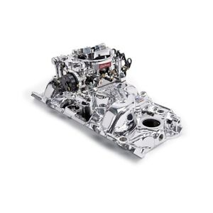 Edelbrock 2061 Single quad Intake Manifold carburetor Kit Chevy