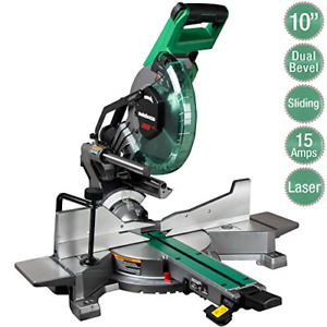 Metabo Hpt 10 inch Sliding Miter Saw Zero Rear Clearance Slide System Dual