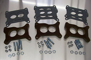 Tri Power Holley Phenolic Insulator Spacer Chevy Six Pack Riser 67 69 Vette 1 2