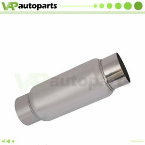 3 Inlet Outlet Stainless Exhaus Muffler Resonator 11 5 Inch Total Length
