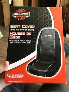 Harley Davison Seat Cover Fits All Bucket Seats Harley Davidson Logo