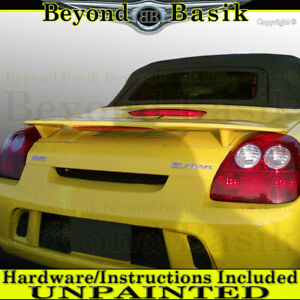 For 2000 2005 Toyota Mr2 Spyder Factory Style Spoiler Wing W Led Unpainted