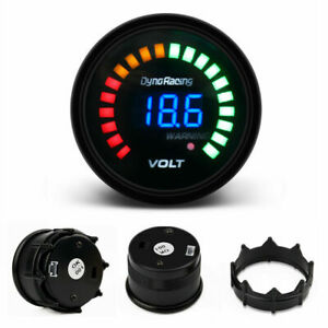 2 52mm Digital Analog Led Electronic Auto Car Voltage Gauge Volt Meter Smoked