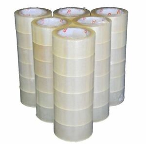 48 Rolls 3 X 110 Yards 330 Ft Clear Carton Packaging Sealing Box Packing Tape