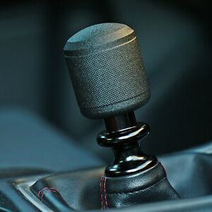 Ssco Bk sk Knurled 200 Grams Wrinkle Black 5 6 Speed Shift Knob Weighted Block