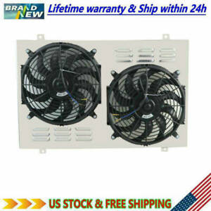 Aluminum Radiator Shroud Fan For 82 92 Pontiac Firebird Chevy Camaro Firebird V8