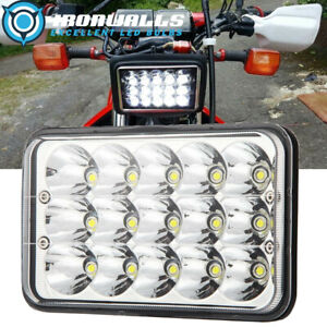Motorcycle Rectangular 4x6inch Led Headlight Projector High Low Beam Sealed