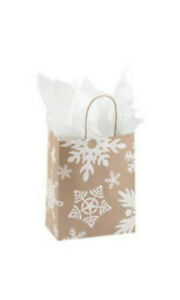 Giant Snowflake Paper Shopping Bags 8 25 L X 4 75 D X 10 5 H Inches Case Of 25