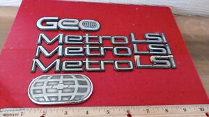 Used Oem Geo Metro convertible 1989 1994 Complete Emblem Badge Nameplate Set 8pc