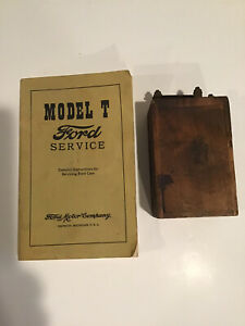 Ford Model T Ignition Coil Box And Service Book Pb Poly Print T 1 Used