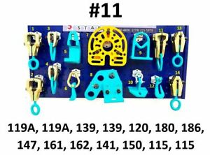 Heavy Duty Auto Body Frame Machine 14 Piece Pulling Tools And Clamps Set