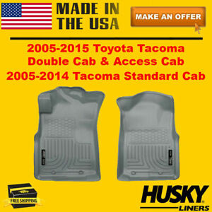 Husky Liners Weatherbeater Front Row Floor Mats For 2005 2015 Toyota Tacoma
