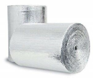Reflective Foil Insulation Spiral Duct Pipe Wrap Double Bubble 6x25 seams