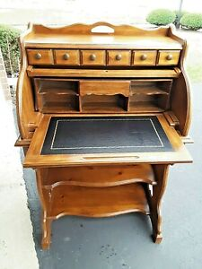 National Mt Airy Cylinder Roll Top Desk