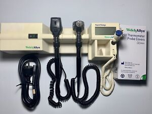 Welch Allyn 767 Wall Transformer Otoscope Ophthalmoscope W Thermometer Probes