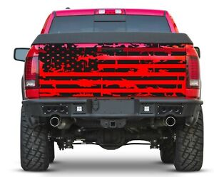 American Flag For Tailgate Truck Rear Graphics Vinyl Decal