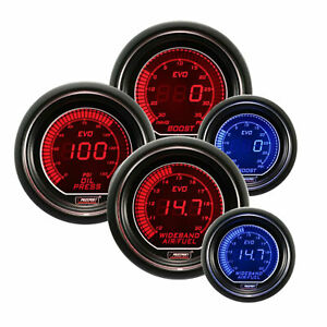 Prosport Evo 52mm Digital Air Fuel Wideband Boost Oil Pressure Gauge Kit Set