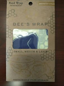 Bee s Wrap Food Wraps Reusable 3 Pack Assorted 1 Small 1 Medium 1 Large Vermont