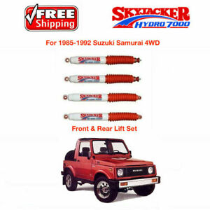 Skyjacker W 3 4 Front Rear Lift Set Of 4 Shocks For 85 92 Suzuki Samurai 4wd