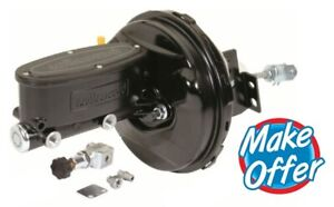 68 74 Chevy Ii Nova 9 Wilwood Cpp Master Cylinder Power Booster Kit Black