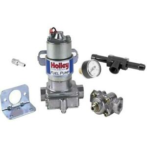 Holley 12 802 1 Blue Electric Fuel Pump press Gauge 5945 Fitting